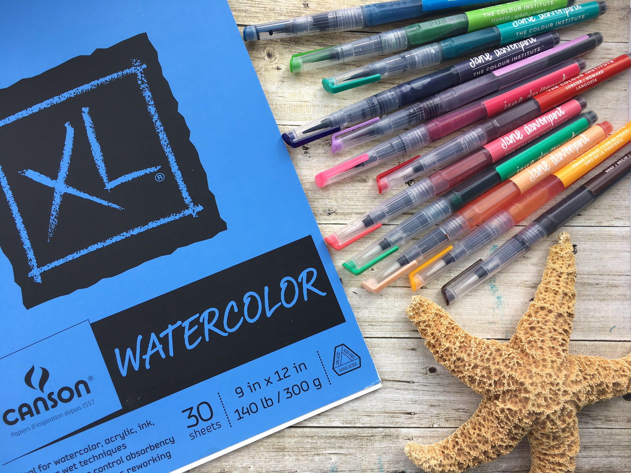 Watercolor brush lettering with mermaid markers kelly