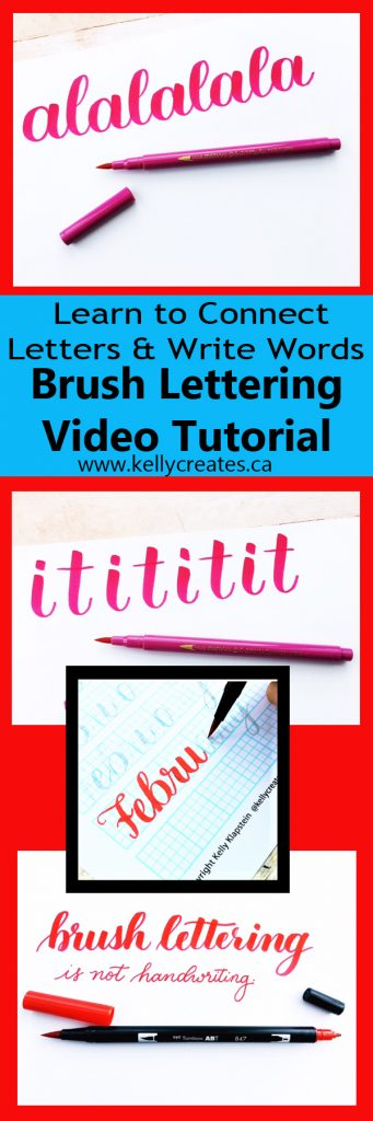 Love this tip for connecting letters and practicing spacing. Lots of great info on KellyCreates blog and in her monthly newsletter Kelly Letters www.kellycreates.ca