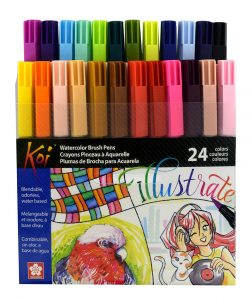Beautiful colors of Sakura Koi Coloring Brush pens from Paper and Ink Arts online store