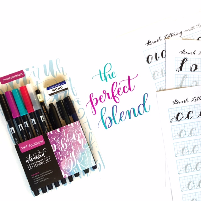 I can use my Tombow Lettering set with all of Kelly Klapstein's worksheets! Learning calligraphy is so fun and relaxing. Brush lettering is a joy! www.kellycreates.ca