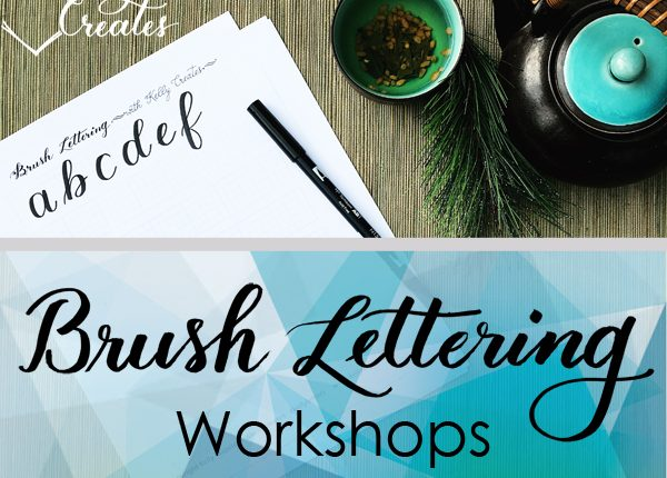 learn brush lettering with Kelly Klapstein, www.kellycreates.ca