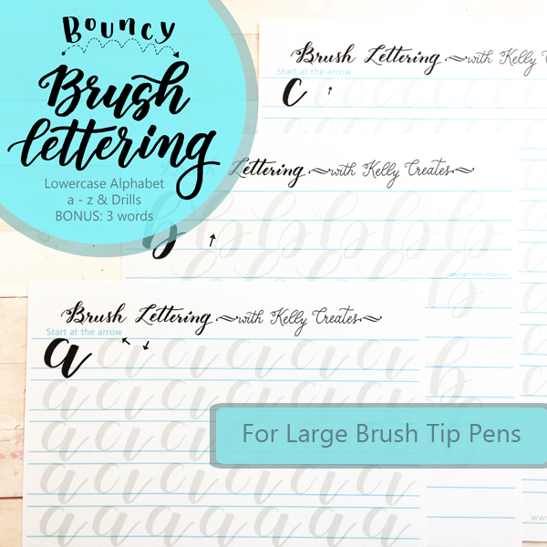 Finally! The best way to learn bouncy calligraphy with brush pens! These tracing templates are amazing! www.kellycreates.ca