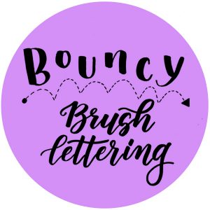What is Bouncy Brush Lettering? Find out www.kellycreates.ca calligraphy, brush calligraphy, brush lettering, learn