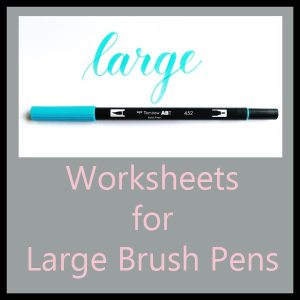 Worksheets for Large Brush Pens