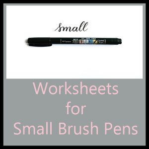 Worksheets for Small Brush Pens