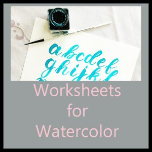 Worksheets for Watercolor Brush Lettering