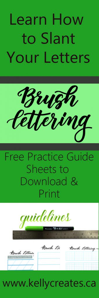 Learn how to slant letters when writing calligraphy with these FREE guide sheets from www.kellycreates.ca