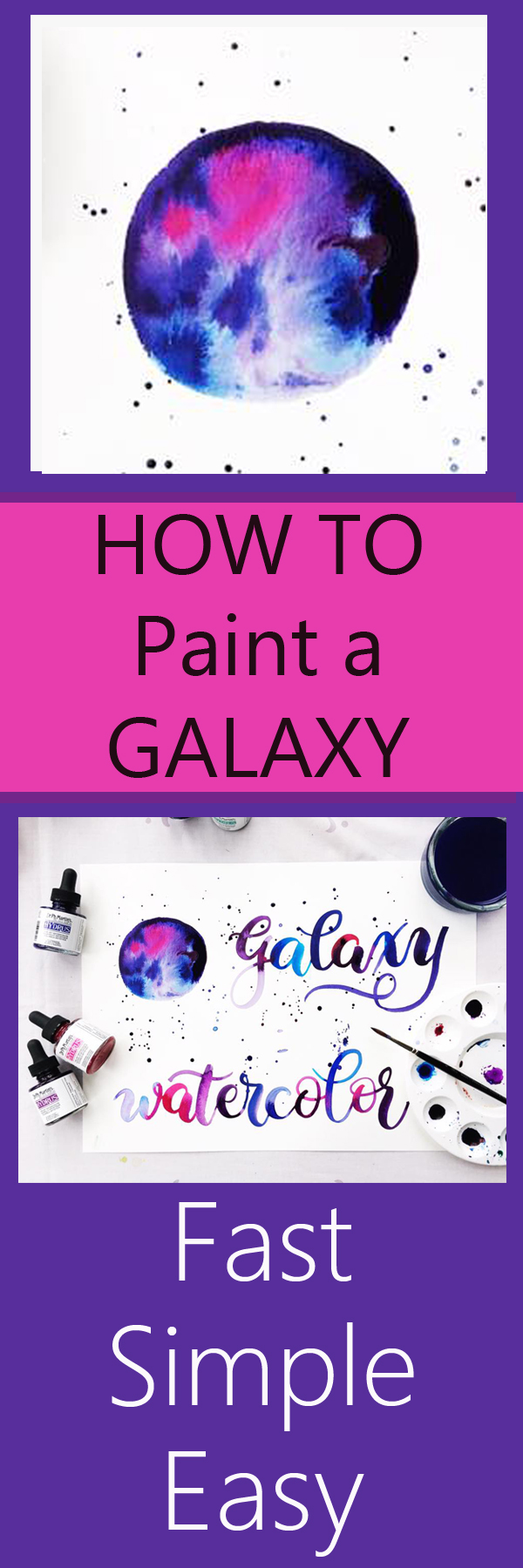 One of the best YouTube tutorials about galaxy painting I've found www.kellycreates.ca