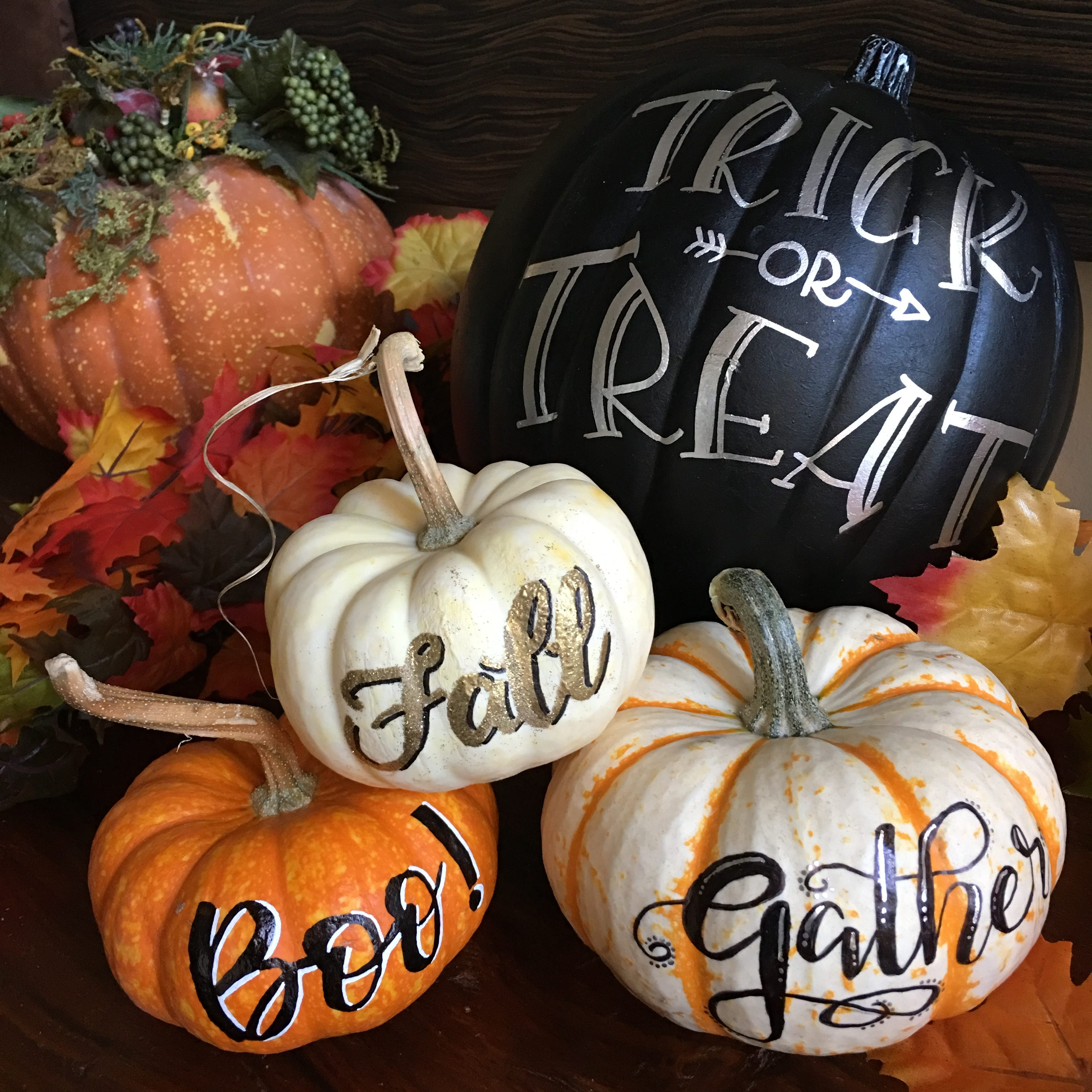image about Thanksgiving Printable Decorations named Hand Lettering Cost-free Printable for Halloween and Thanksgiving