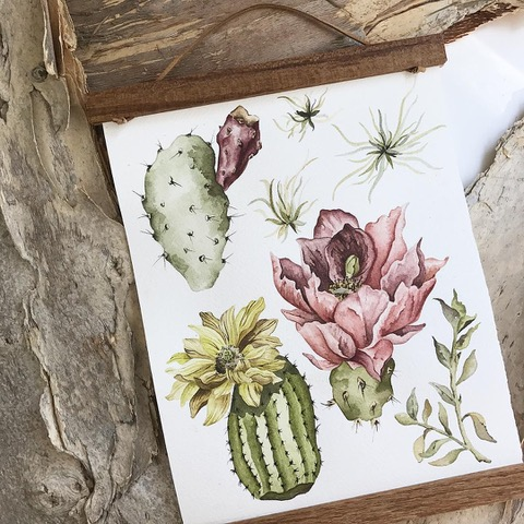 Handmade Holiday Gift Guide. For Christmas. Presents. Give the gift of handmade. Support small business. Art and artisans. watercolor art. botanicals