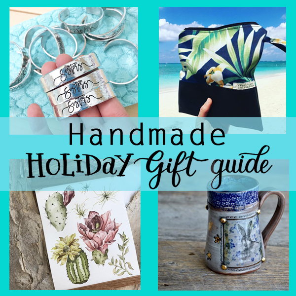 Kelly Creates Handmade Holiday gift guide for Christmas shop small and have a big heart.