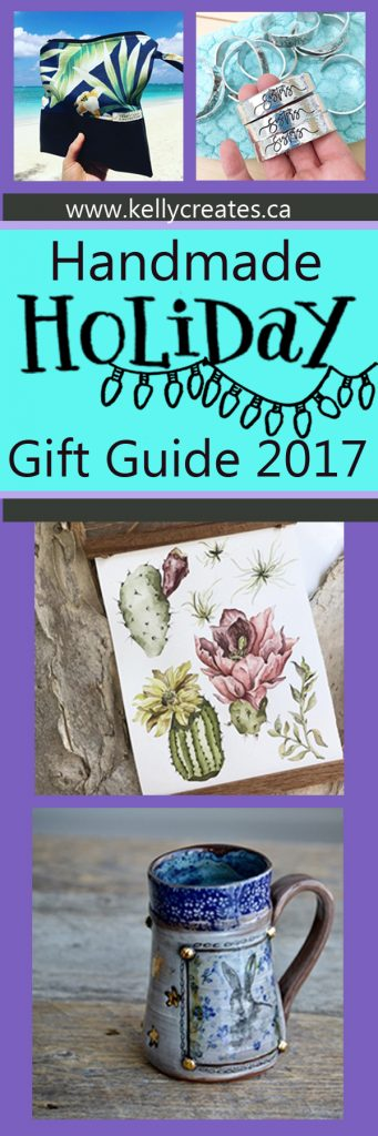 Shop small Beautiful handmade Christmas hoiday gifts guide pottery, mugs, jewelry, bags, watercolor, botanicals