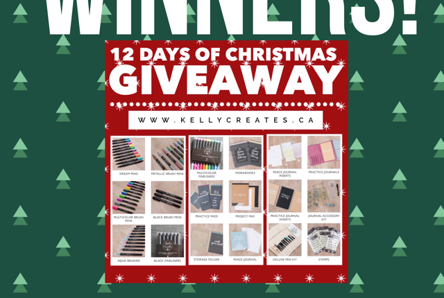 Winners announce of Kelly Creates Christmas Giveaway 2017 new products from American Crafts