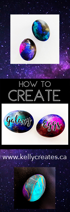 Learn this cool painted galaxy technique using Kelly Creates Aqua Brush Pens with a video tutorial too!