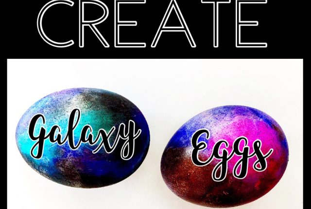 Galaxy eggs painted with Kelly Creates Aqua Brushes from American Crafts, Available at Michaels stores and retailers worldwide. Easter fun, diy, kids, how to design and color eggs