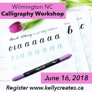 Learn calligraphy brush lettering in North Carolina www.kellycreates.ca South Carolina, United States