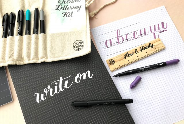 Avoid these 3 common mistakes and your brush lettering will improve SO MUCH! Learn brush lettering with Kelly Creates and her worksheets and youtube videos!