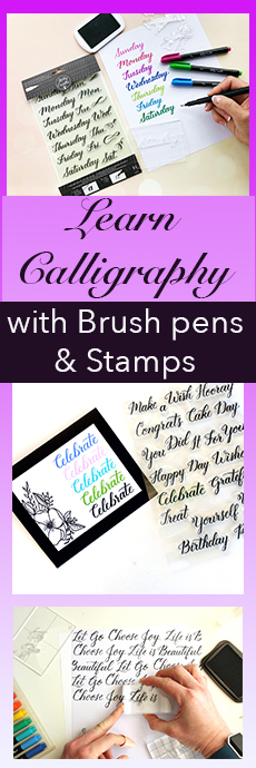 Cool new calligraphy learning technique! Stamp and Trace, for cards, planners, bujo, journals, and more.
