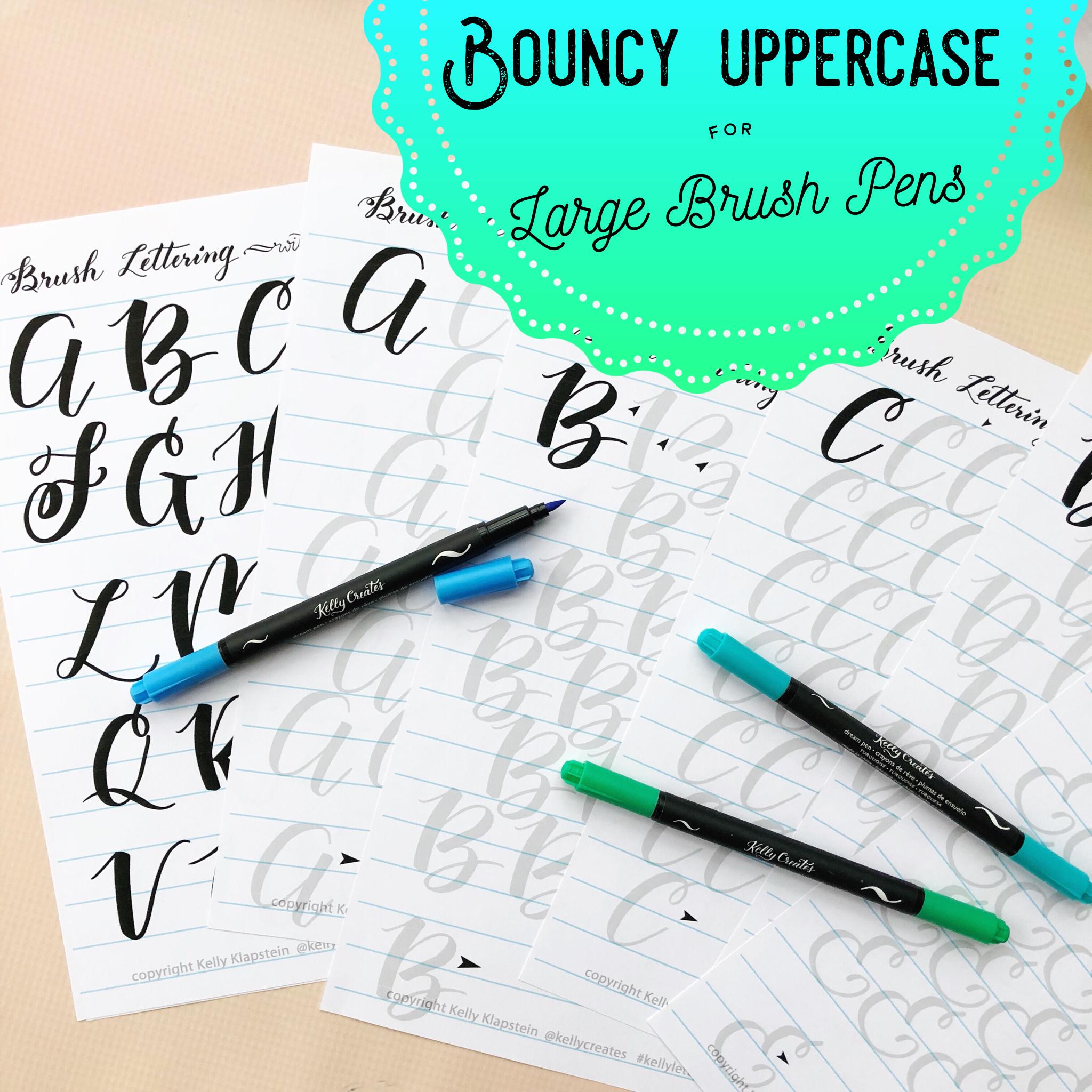 Bouncy Uppercase Alphabet For Large Brush Pens O