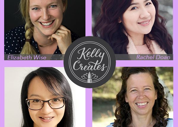Kelly Creates Design Team announcement tutorials and hand lettering calligraphy art work