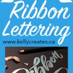Cool Ribbon Hand Lettering tutorial using Jewel Brush Pens
