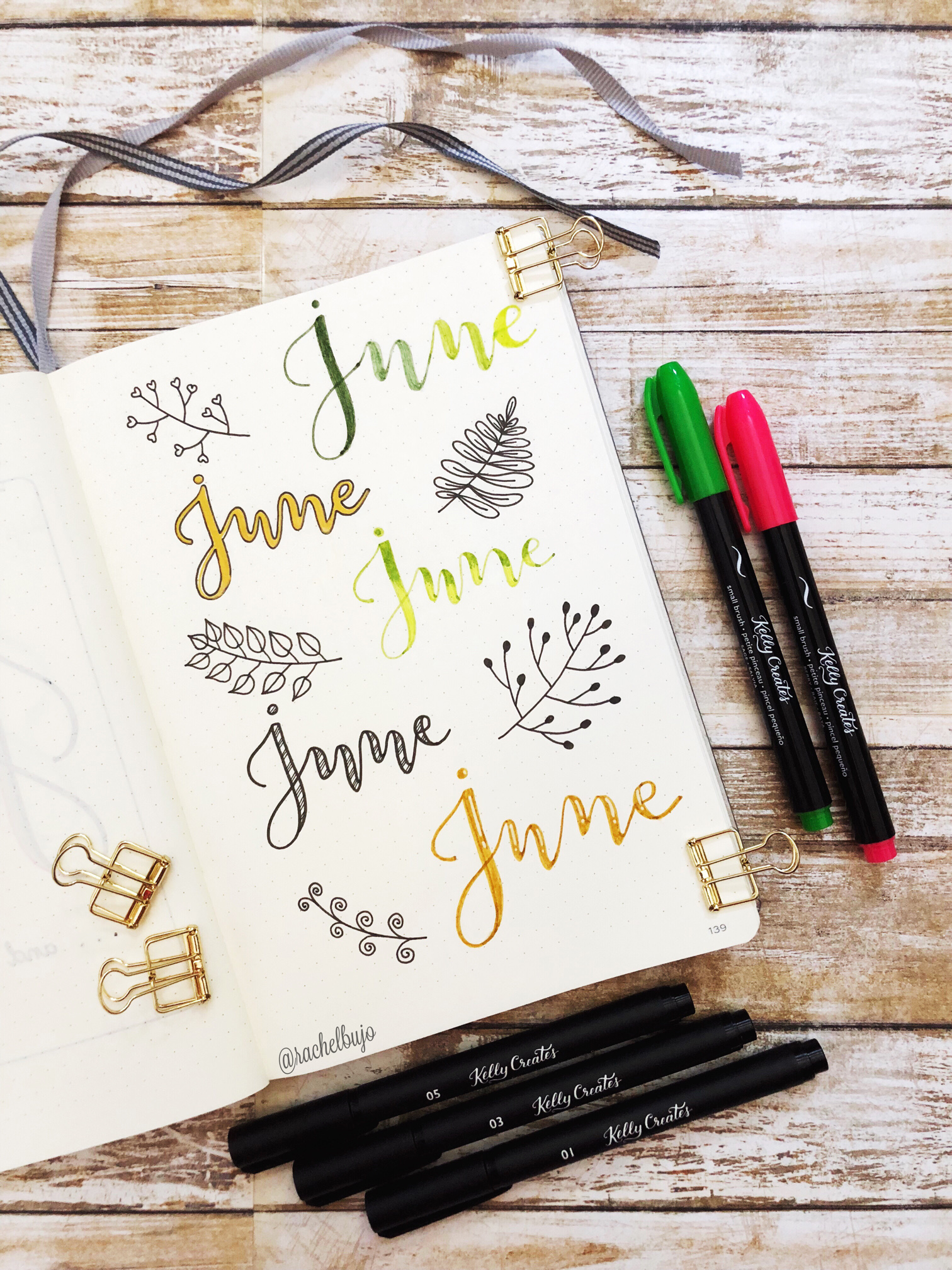 Fake Calligraphy in your Bullet Journal – Kelly Creates