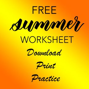 learn bouncy brush lettering modern calligraphy with this fun free tracing worksheet guideline template and write summer