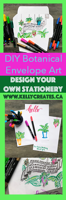 MUST TRY this Envelope Art idea using Kelly Creates pens and paper! www.kellycreates.ca