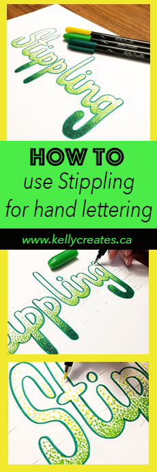 Amazing tutorial for stippling gradient blending colour effects for hand lettering and design by Elizabeth Wise