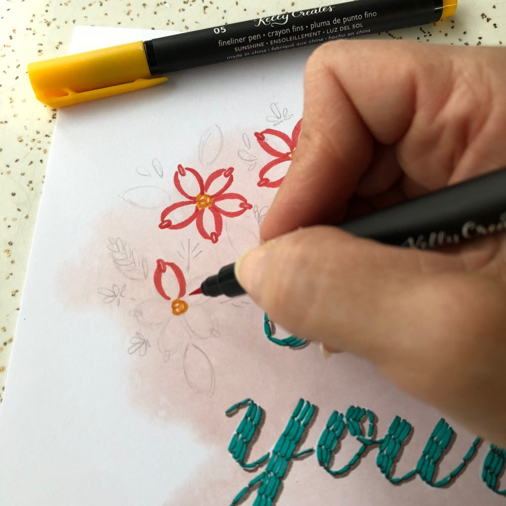 Learn how to write quotes with calligraphy and brush pens with this new Quote pad from kellycreatesstore.com tutorial by Bonnie Peters @diamondandwillow