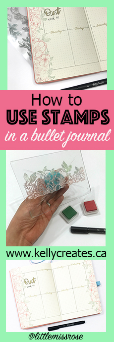 Now I can use all my stamps in my bujo bullet journal for planning and more and try this weekly spread tutorial from Little Miss Rose