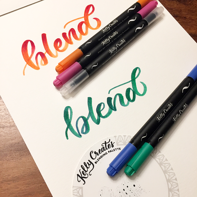 Blend colours with Kelly Creates Dream Pens how to tutorial www.kellycreates.ca with @wiselettering