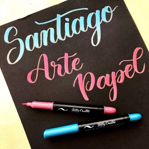 Santiago, chile, Spanish, brush lettering, calligraphy, hand lettering, jewel brush pen,