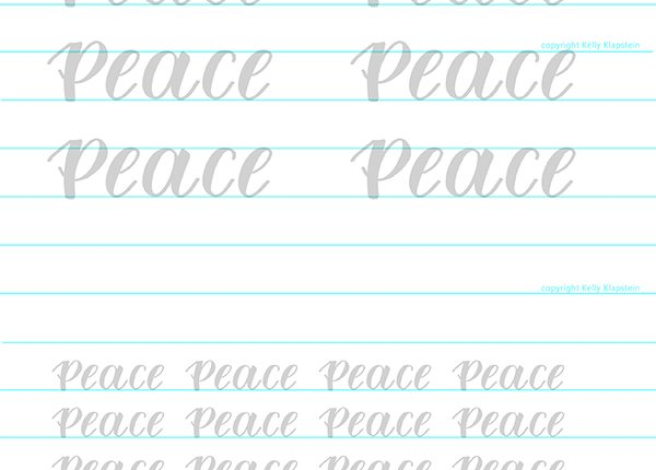 free worksheet calligraphy hand lettering download and print to trace template practice and learn