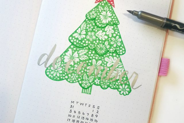This amazing tutorial is perfect for my December bullet journal cover page! @littlemissrose www.kellycreates.ca