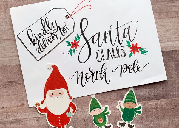 Holiday Christmas Envelope Art tutorial with Chasity Sivanick www.kellycreates.ca