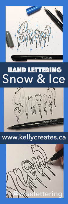 Fa mastic tutorial for creating snow and ice effects on hand lettering