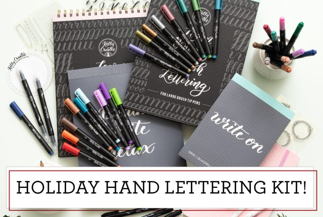 holiday hand lettering kit 50% off sale Christmas calligraphy pens, brush pens and workbooks and more!