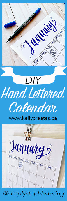 Calendar hand lettered tutorial