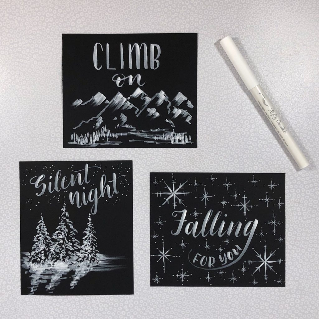 @diamondandwillow Moonlight Markers design tutorial for illustration and snow or winter effects