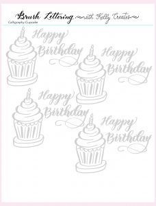 Feb 2019 freebie Kelly Creates birthday cupcake