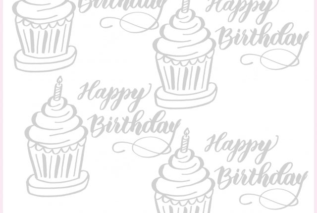 free cupcake calligraphy worksheet