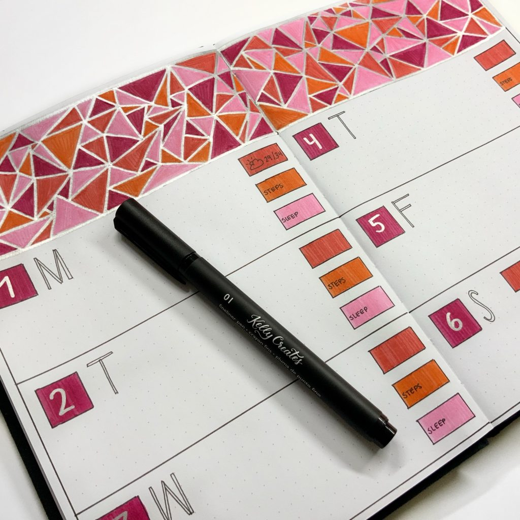 A fantastic easy tutorial for creating this geometric design for your journal or planner by @theillustratedplanner www.kellycreates.ca