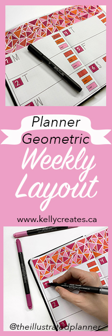 Planner Geometric Weekly Layout Meagan Guild