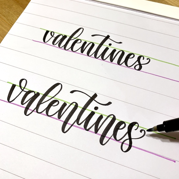 Really Cute Bouncy Lettering tutorial that makes learning it so easy from @simplystephlettering www.kellycreates.ca