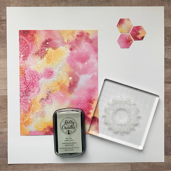 Cute scrapbook layout with Kelly Creates rub ons stamps and NEW Galaxy paper www.kellycreates.ca @chiciscre8tive