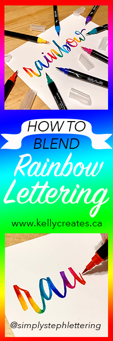 Rainbow lettering kelly creates