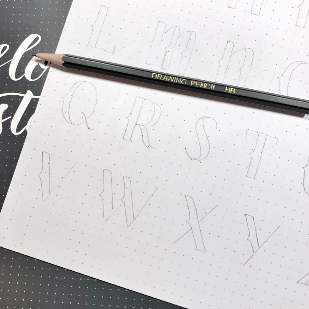 Awesome resource of alphabet styles for hand lettering to try and practice www.kellycreates.ca