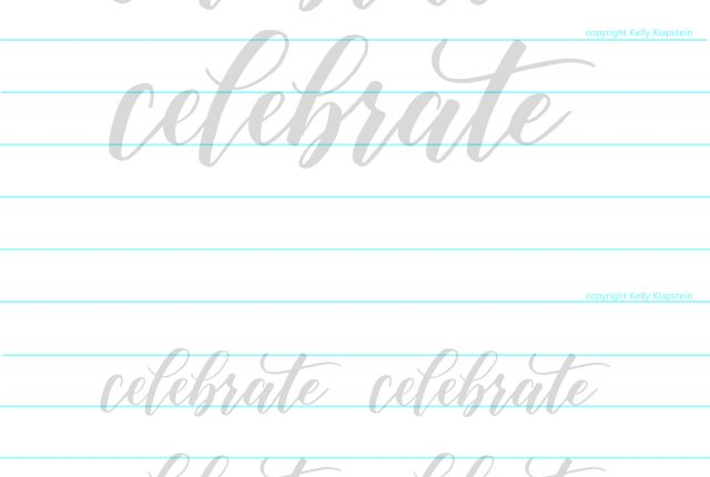 practice calligraphy with brush pens and this free printable worksheets from www.kellycreates.ca