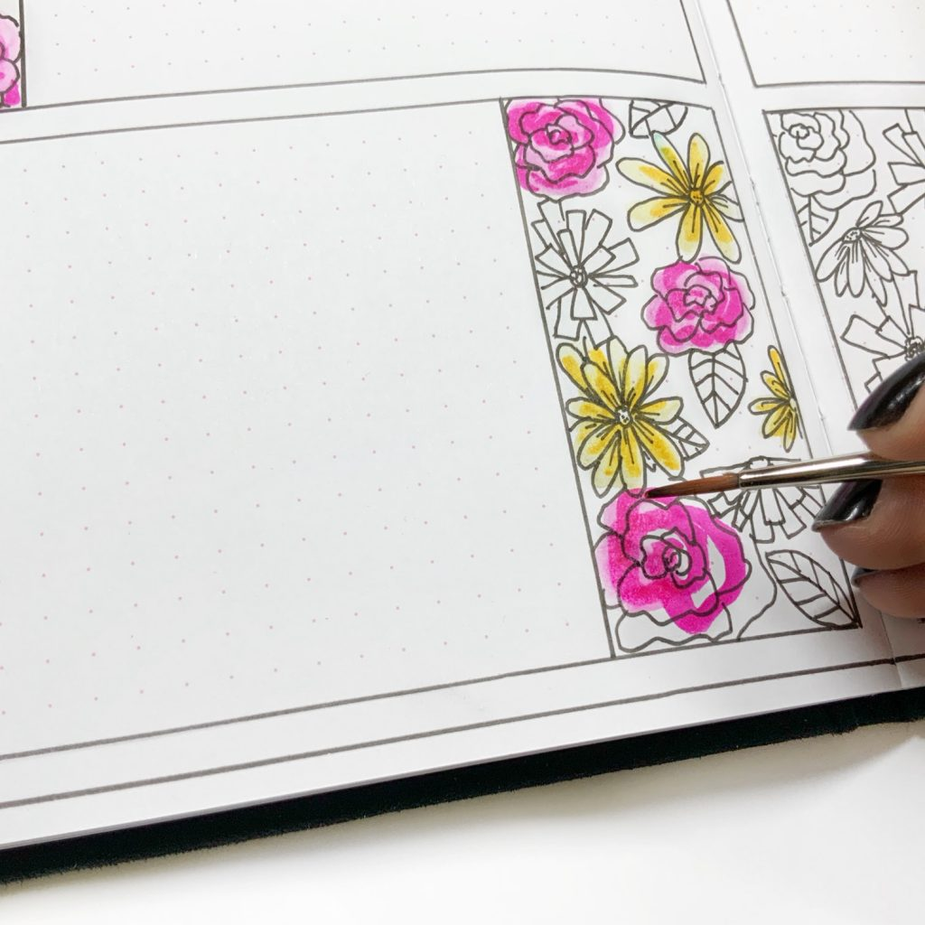 Beautiful floral gratitude journal bujo planner www.kellycreates.ca